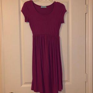 Purple Babydoll Dress